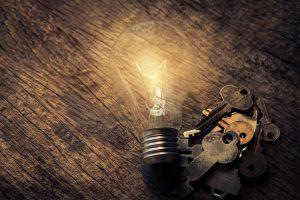 Discipline Key and Light Bulb