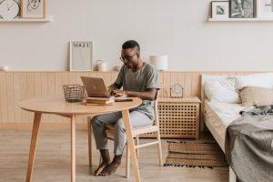 Man Doing Online Tutoring