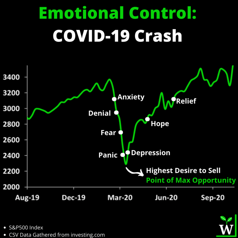 Stock Market Emotional Control Infographic